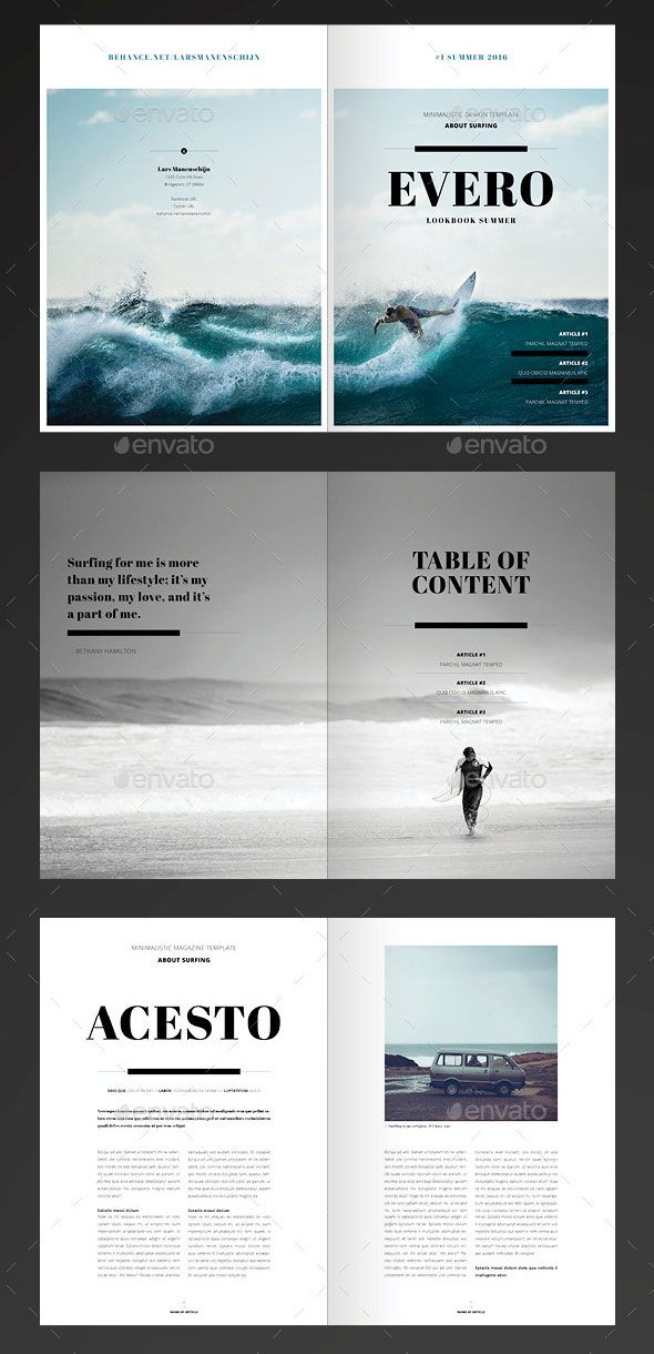 Amazing Minimal Magazine – InDesign Template