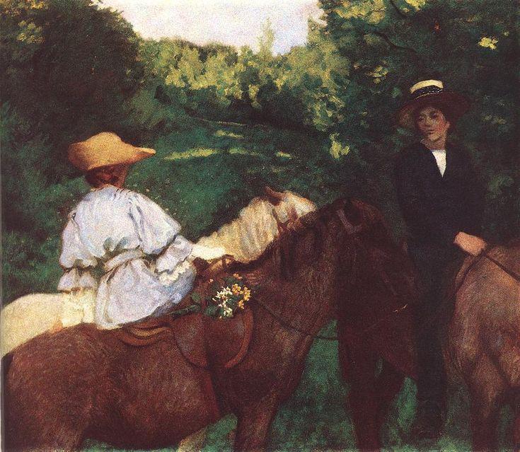 Riding Children by Károly Ferenczy, 1905