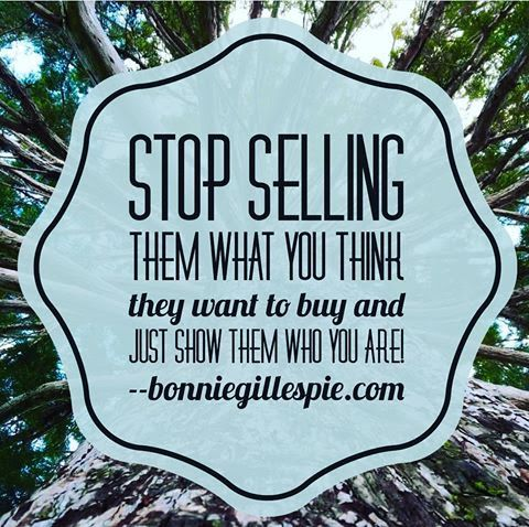 """Stop selling them what you think they want to buy and just show them who you are! Hit bonniegillespie.com for FREE inspiration and guidance on bringing more joy to your creative career from the author of """"Self-Management for Actors,"""" Bonnie Gillespie!"""