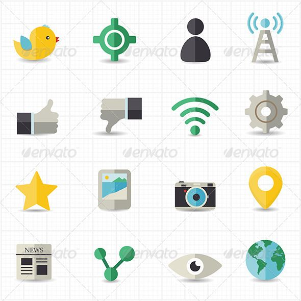 Social Networking Icons — Vector EPS #icons #phone • Available here → https://graphicriver.net/item/social-networking-icons/8417753?ref=pxcr