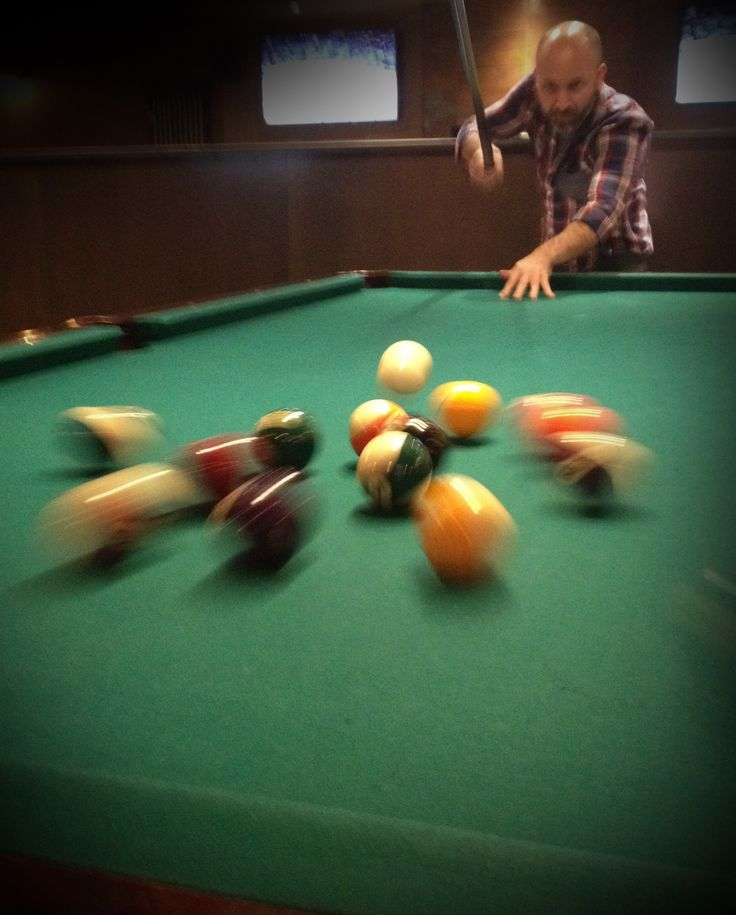 Davis | Annual company pool tourney - taking a break at the Crooked Cue