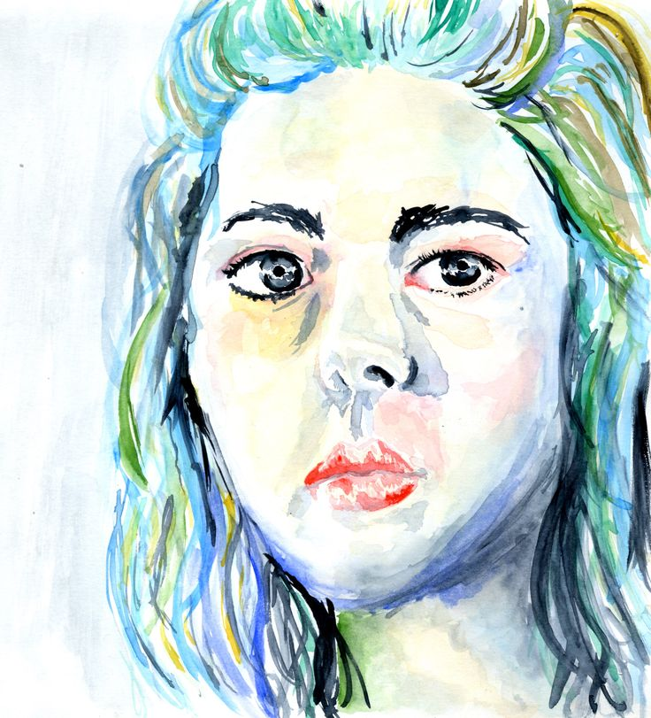 Self Portrait in water colour