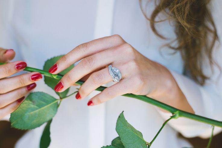 Bague or blanc et diamants - Maison Waskoll