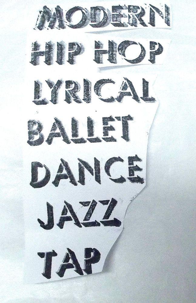 Dance terms words rubber stamp Modern Hip Hop Lyrical ballet dance Jazz tap unm #Unbranded #DanceWords
