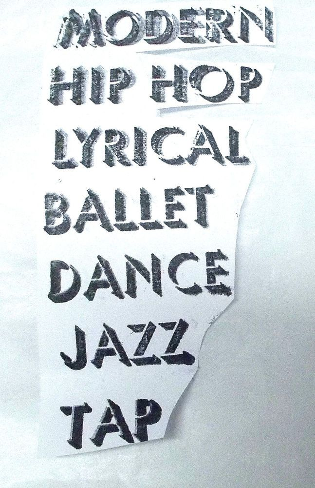Dance terms words rubber stamp Modern Hip Hop Lyrical ballet dance Jazz tap unm #Unbranded #DanceWords