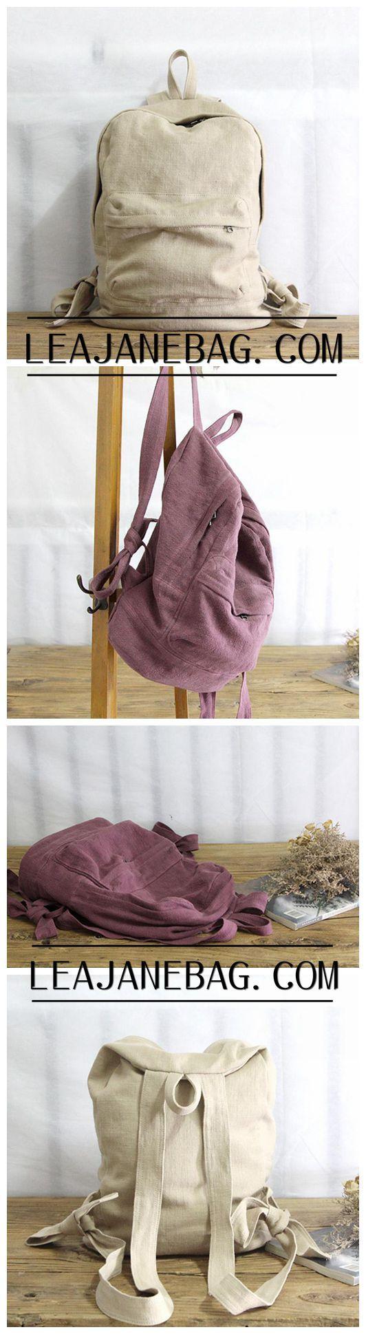 Canvas Backpack, Women Travel Backpack, School Backpack YY012