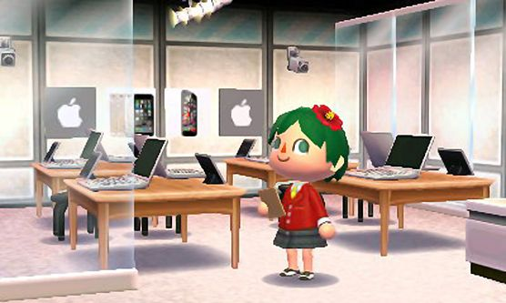 Animal Crossing vambiergott:  Built the store that every town needs:  the Apple Store-0300-7739-374 many iProducts and the genius bar with its highly qualified staff.