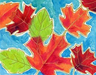 Cool Fall Art Ideas: Fall Leaves, Fallart, For Kids, Fall Projects, Tissue Paper, Fall Art Projects, Watercolor Leaves, Paper Leaves, Watercolor Fall