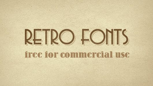 8 retro fonts (free commercial use)