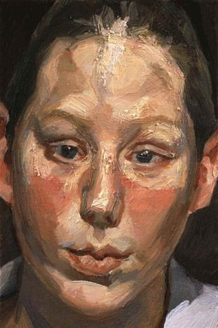 Frances Costelloe, oil, Lucian Freud 2002 (245) private collection