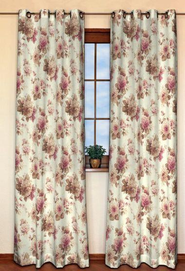 Zasłona na kółkach 1 szt. w kolekcji Mirella, tkanina: 141-06