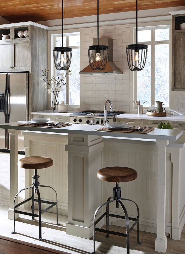 65 best kitchen island lighting images on pinterest for Kitchen island lighting pendants