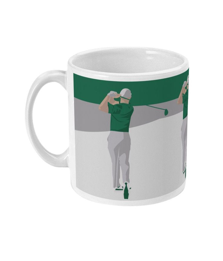 Golf mug, Golf illustration, father's day, Golf gift ...
