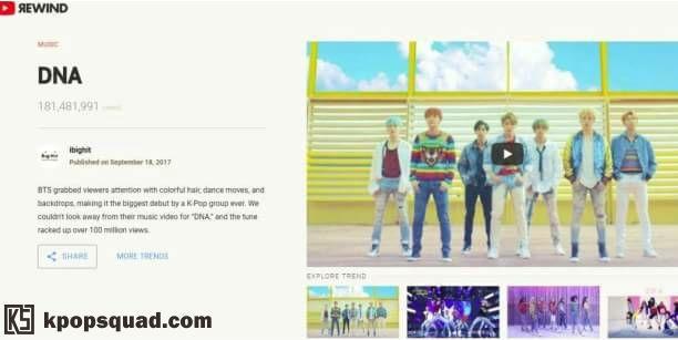 BTS Masuk Dalam Trend List 'YouTube Rewind 2017'