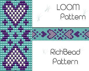 Beaded loom bracelet pattern, PDF seed bead bracelet, DIY beading, Instant download, Bookmark flower pattern, Digital square stitch jewelry