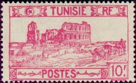 1940: Amphitheatre of El Jem (טוניסיה) (Definitive Issue) Mi:TN 209,Yt:TN 222
