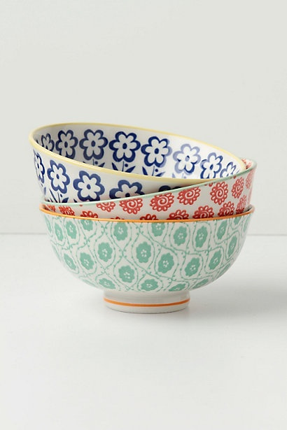 Anthropologie Bowls: Kitchens, Anthropologie Bowls, Mixed Bowls, Anthropology, Pattern, Colors, Cereal Bowls, Atoms Art, Art Bowls