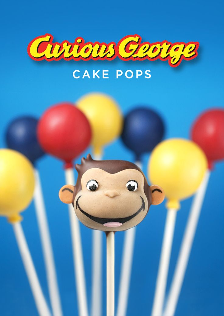Love how these Curious George Cake Pops turned out. I made them in partnership with @hulu to help them share that you can now watch all 9 seasons of #CuriousGeorgeonHulu