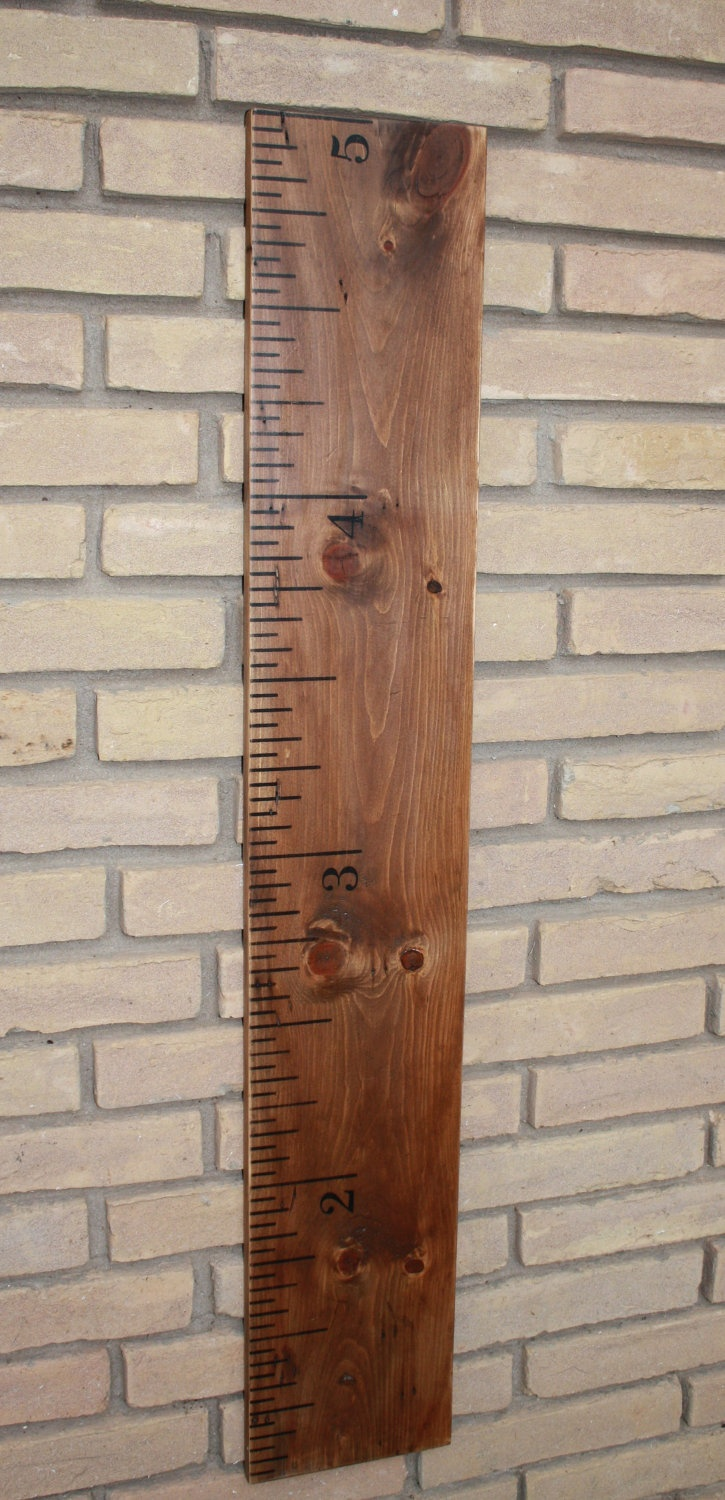 Sale - Solid  Wood Vintage Ruler Growth Chart - Custom - Growth Chart For Children - Large Ruler- Normally 45