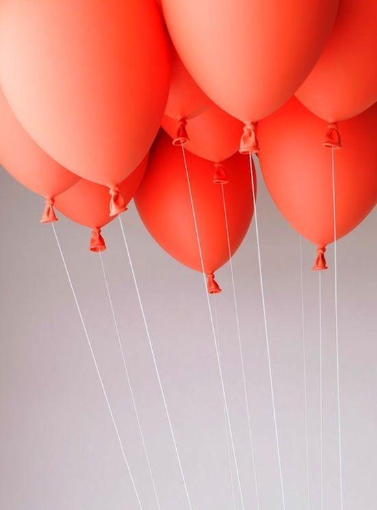 balloons: Colour, Orange, Inspiration, Colors, Wedding, Peach, Coral Balloons, Red Balloon, Photo
