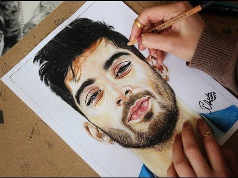Time lapse drawing (Zayn Malik) portrait in watercolors & colored pencil... #zaynmalik #fanart #drawing #mixedmedia #watercolors #colorepencils #watchthevideo