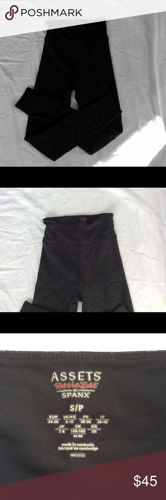 Spanx Dark Heather control leggings. NWOT Red Hot Label line.  High control waist, heavy weight.  Poly/Rayon/Elastane.  Perfect around town or in class. SPANX Pants Leggings