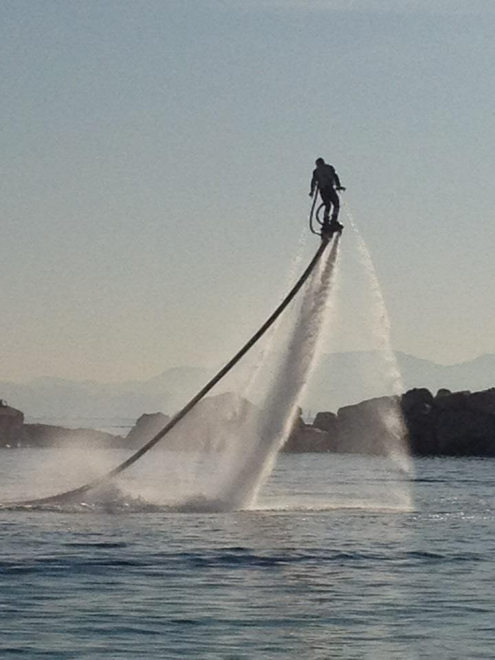 Part Jet Ski, part jet pack - it can go underwater and do crazy flips and tricks!  Check out the Video.  Too Cool!: Coastal Flyboard, Jets Packs, Flyboard Instructor, My Sons, Jets Skiing, Hydo Jets, Flying Jets, Adrenaline Junkie, Certified Flyboard