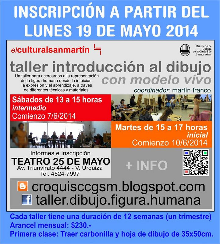 Dibujo y Corquis con Modelo Vivo en el Teatro 25 de Mayo - Buenos Aires