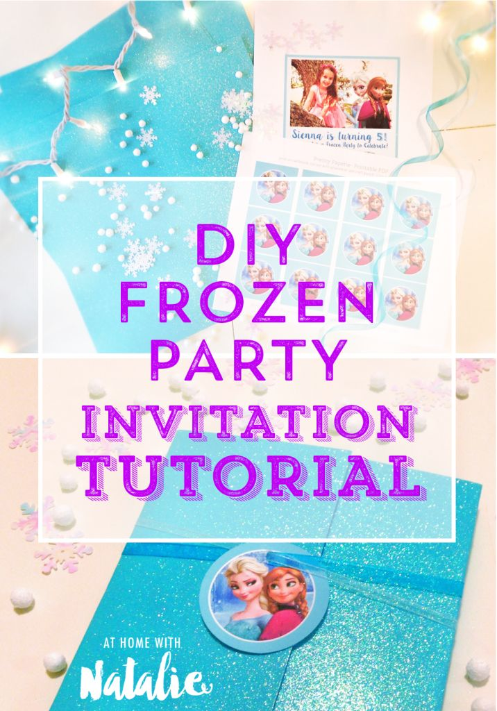 frozen party invite tutorial and free printable. Black Bedroom Furniture Sets. Home Design Ideas