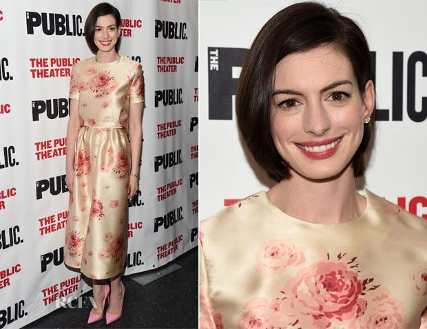 Anne Hathaway In Vilshenko – 'Grounded' Opening Night Party