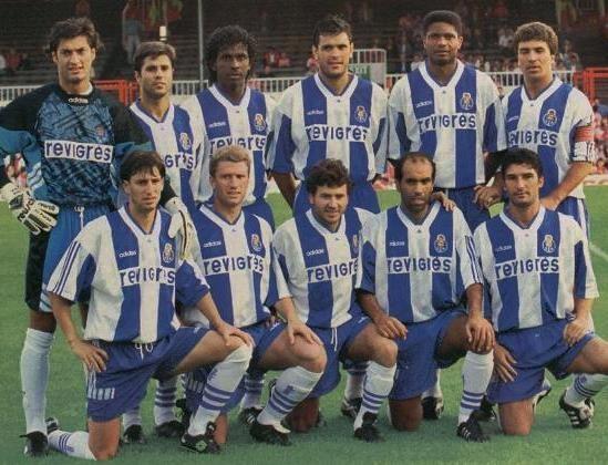 1994/95: Campeonato Nacional    Vítor Baía, Secretário, Emerson, Zé Carlos, Aloísio e João Pinto;  Domingos, Rui Filipe, Rui Barros, Bandeirinha e Folha;  Bobby Robson