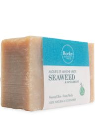 Seaweed Soap An invigorating bar to revive the senses. Spearmint Essential Oil provides a refreshing blast of aromatherapy and is both stimulating and soothing to the skin helping to cleanse and tighten pores. Kelp Powder promotes healthy skin by encouraging detoxification and exfoliating dead skin cells.