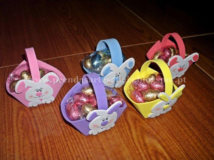 Páscoa - Cesta de ovos de chocolate