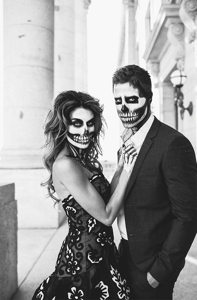21 easy fresh couple halloween makeup ideas maquillage halloween maquillage et halloween - Maquillage halloween couple ...