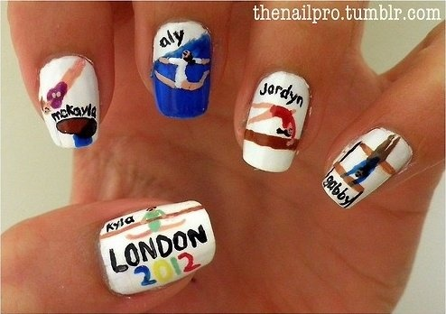 Olympic Gymnast Nails love it want it need it❕❤