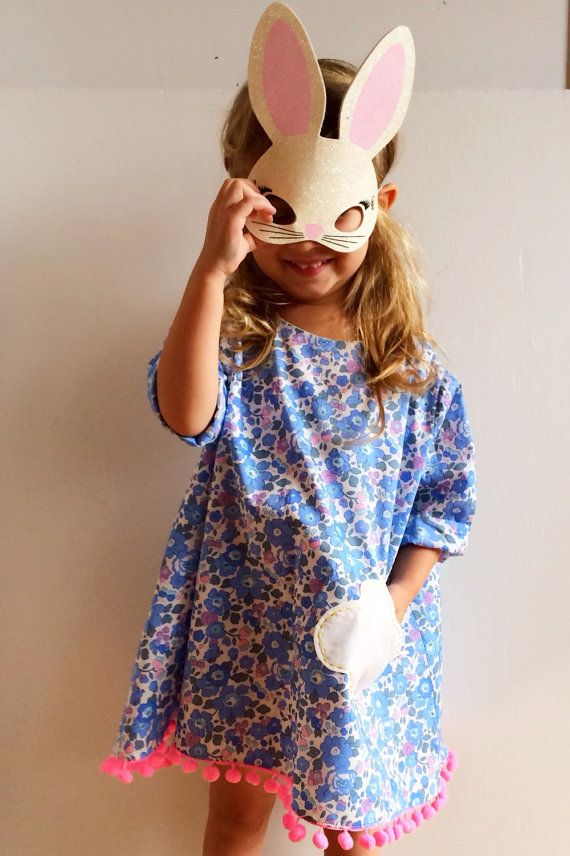 Liberty of London girls printed Floral Dress by LittleOclothing on Etsy