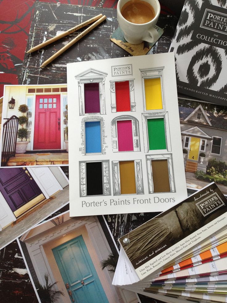Sydney Harbour Paints Front Doors is a collection of 9 new colors to be made using Aqua Gloss Enamel to reflect Peter Lewis' (owner and founder of Porter's Paints), experience throughout Europe.