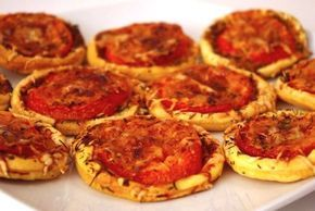 Tartelettes tomates-moutarde à l'ancienne