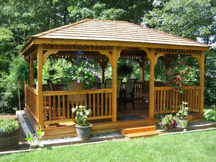 How to Build A Gazebo with Red Cedar Deck for behind the pool