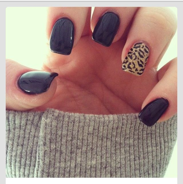 I love these cheetah print nails