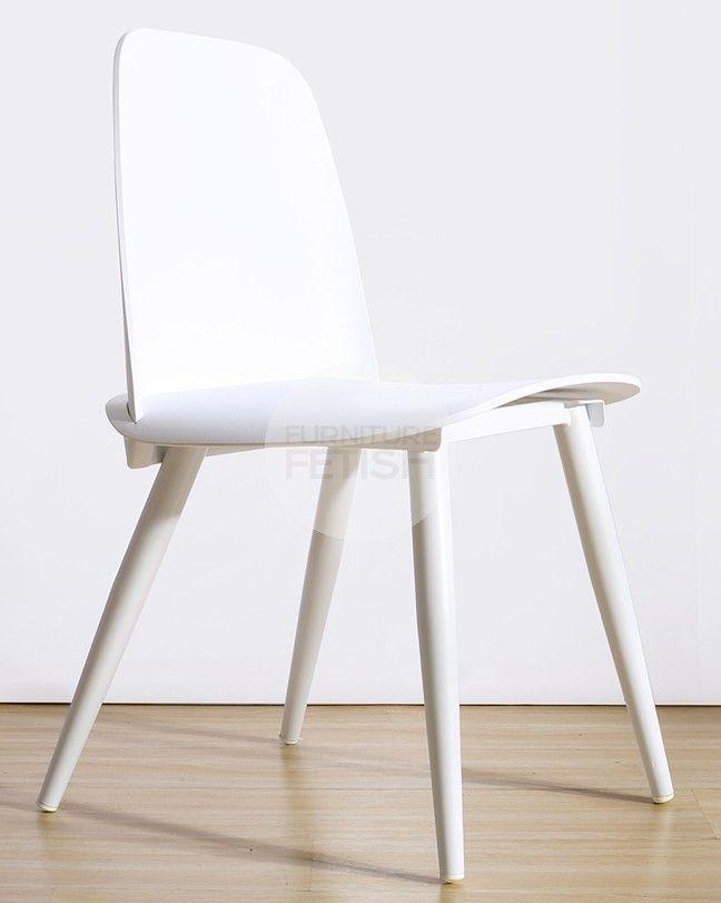 Nerd Boomer Dining Chair - White