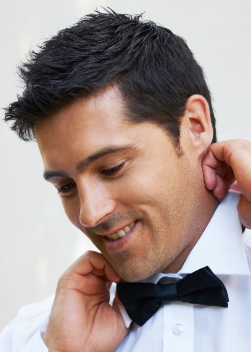 mens short hairstyles wedding