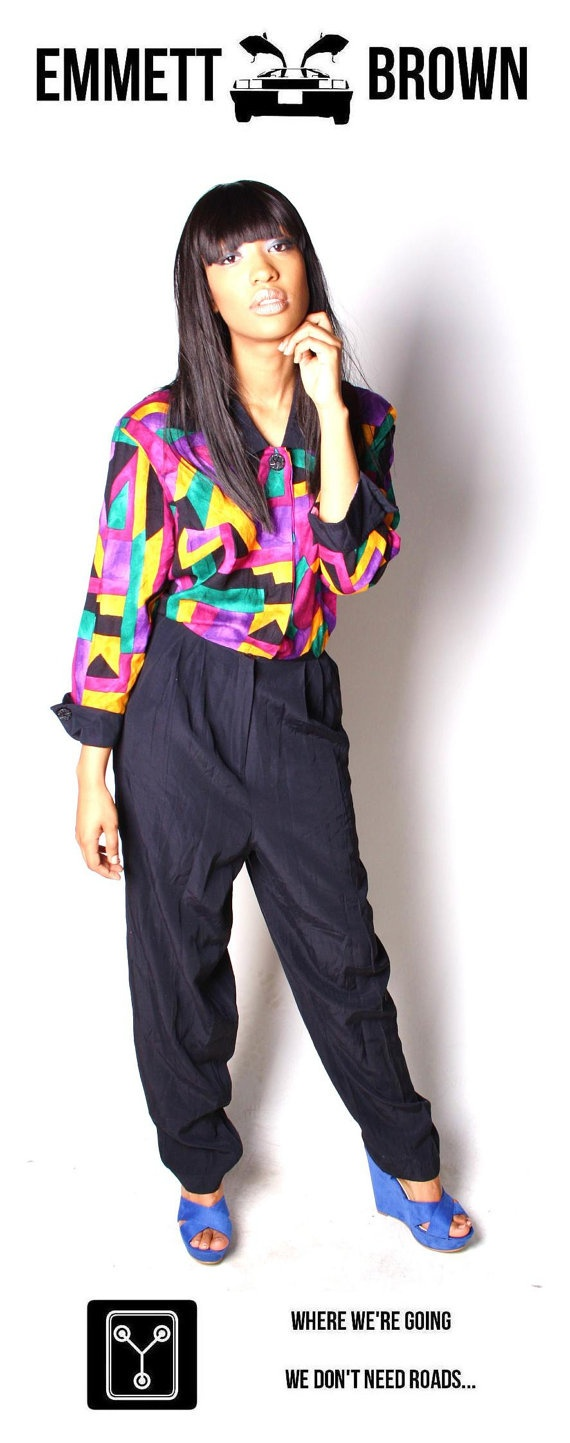 90s Hip Hop Fly Girl Neon DayGlo ColorBlock by EmmettBrown ...