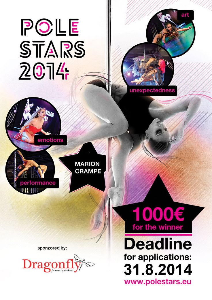Win 1000 EUR Dragonfly PRIZE MONEY at POLE STARS 2014 in Prague!  For more information about the event and applications visit www.polestars.eu/en #poledance #poledancing #polestars #polesports #polefitness #prizemoney