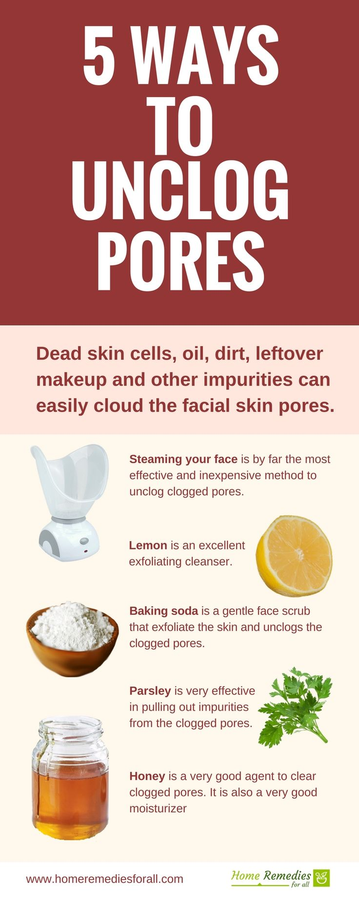 unclog your clogged skin pores with these 5 simple but very effective home remedies and give your skin the youthful look again.