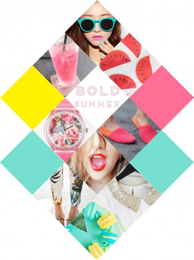summer trends for a bold, color-popped, bright & sunny season graphic design