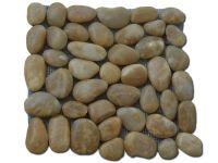 Mozaic Pebble Yellow - Mozaic pe plasa din piatra de rau !