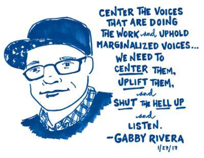 Gabby Rivera at @bustle's American Woman Book Club, 1/27/17