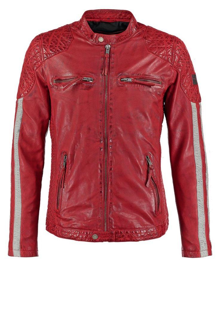 Freaky Nation INDI Kurtka skórzana red 969.00zł #moda #fashion #men #mężczyzna #freaky #nation #indi #kurtka #skórzana #red #czerwony #męska #skóra #przejściowa #wiosenna #jesienna