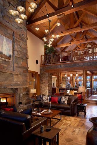 Private Residence D - Yellowstone Club - Continental Construction.  Custom Civetta chandelier by Aldo Bernardi.